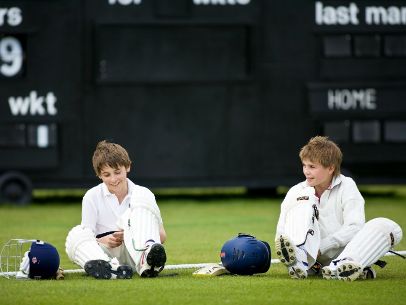 prep school cricket match
